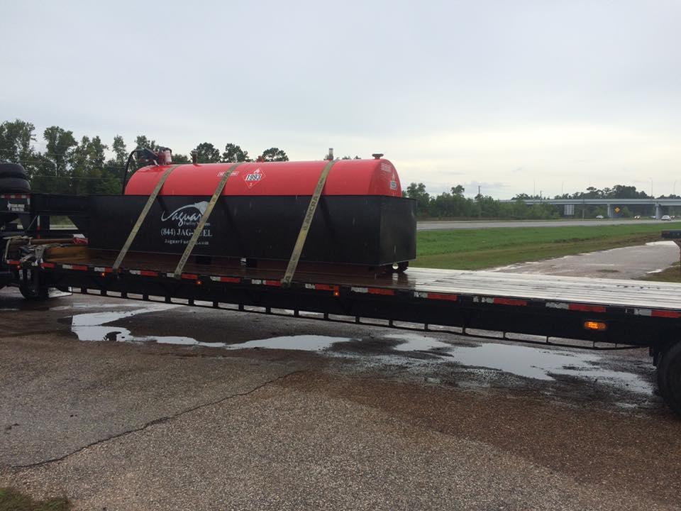 Delivering Emergency Fueling Tanks