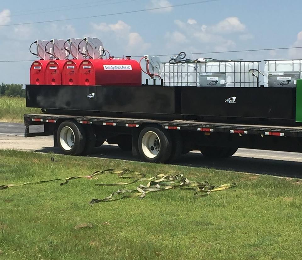 Staging Fuel Tanks for Hurricane Matthew